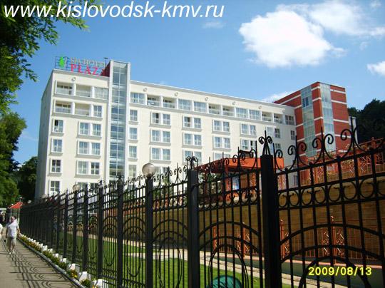 Фасад санатория Плаза в Кисловодске